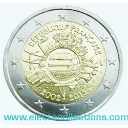 France – 2 Euro, 10 Years of EURO cash, 2012