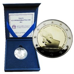 Malta – 2 Euro, Elected representatives, 2011 (proof)