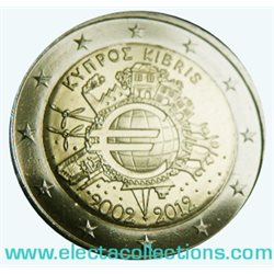 Cyprus – 2 Euro, 10 Years of EURO cash, 2012