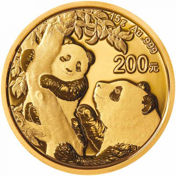 China - Gold coin BU 15g, Panda, 2021 (Sealed)
