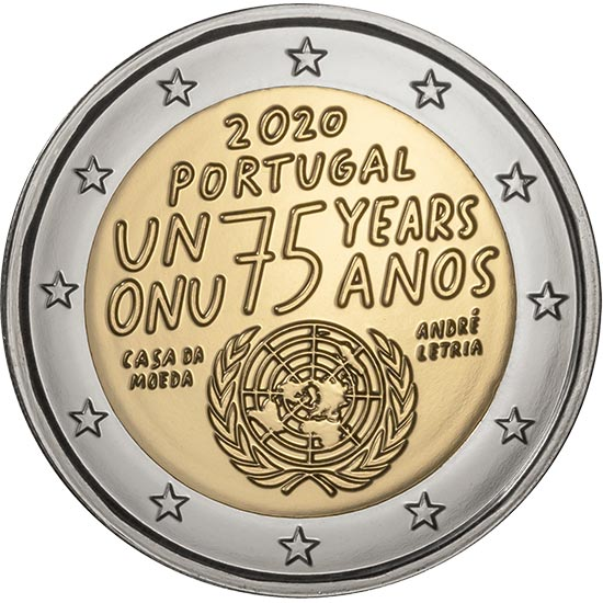 Portugal - 2 Euro, 75 years United Nations, 2020