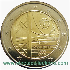 Portugal - 2 Euro, 50 years of the 25th April Bridge, 2016