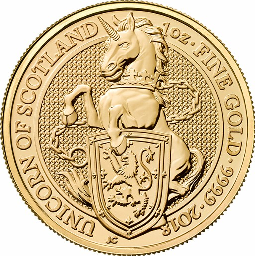 Großbritannien - The Unicorn of Scotland gold 1 oz, 2018