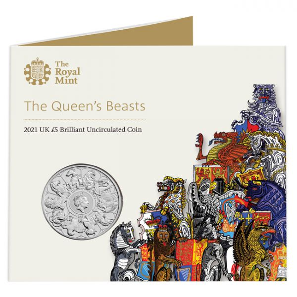 Regno Unito -  5 pounds, Queens Beasts, 2021 (completer)