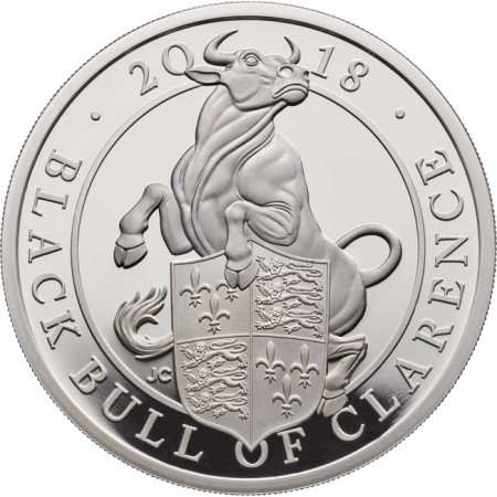 Great Britain - BLACK BULL OF CLARENCE, 1 oz Ag proof, 2018