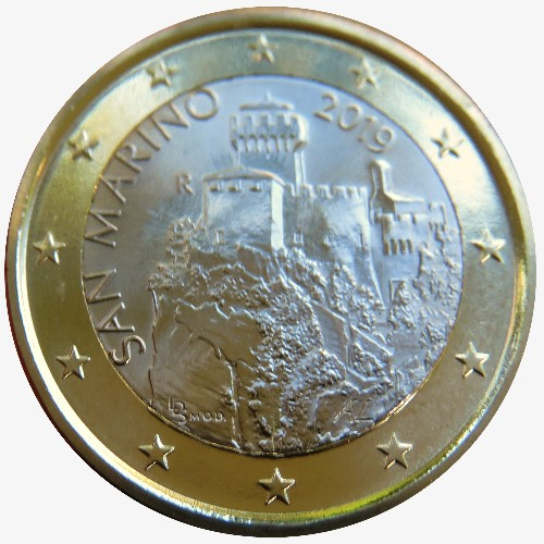 San Marino – 1 Euro, the Second Tower Cesta, 2019
