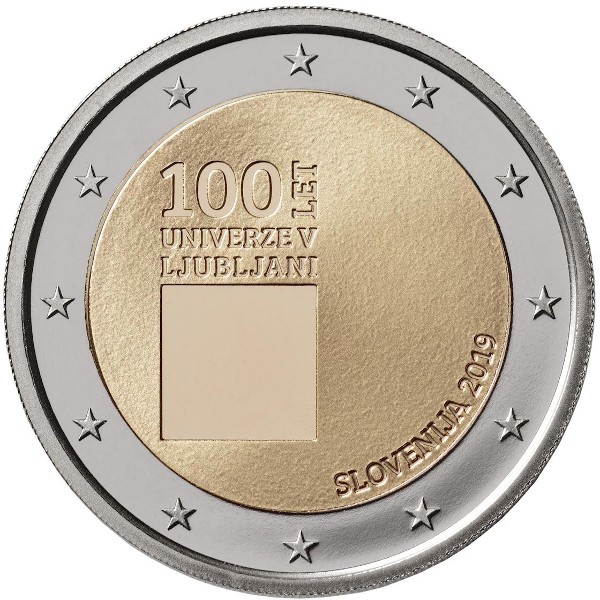 Slovenia – 2 Euro, University of Ljubljana, 2019