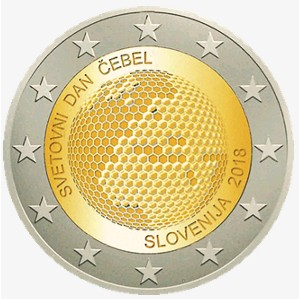 Slovenia – 2 Euro, World Bee Day, 2018