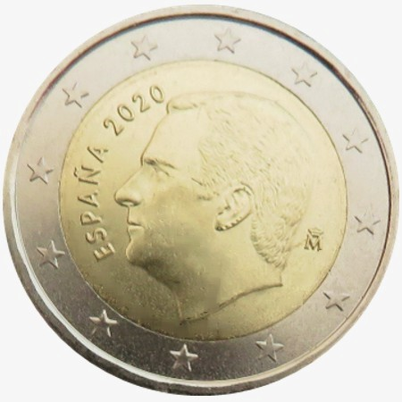 Spagna - 2 Euro, New King Felipe VI, 2020  (BU in capsule)