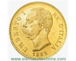 Ιταλία - 20 Lire Gold, King Umberto I, 1882