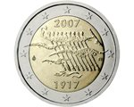 Finland - 2 Euro, 90 years of Independence, 2007