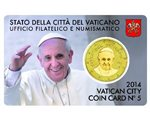 Vatican - 50 Cent, COIN CARD - N. 5 YEAR 2014