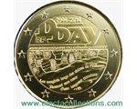France - 2 Euro, 70th anniversary of the D-Day, 2014