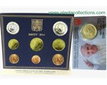Vatican - Euro coin set BU + coin card 2014