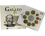 Italy - Official BU Set 2014 + 2 Euro Galileo Galilei