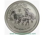 Australia - Silver coin BU 5 oz, Year of the Goat, 2015