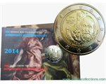 Greece – 2 Euro BU, THEOTOKOPOULOS, 2014 (coin card)