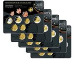 Germany - Official BU series 2015 (5 sets A,D,F,G,J)