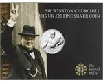 Great Britain - £20 Fine Silver, Winston Churchill, 2015