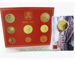 Vatican - Official Euro coin set BU + coin card 2015