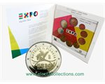 Italy - Official BU Set 2015 + 2 Euro EXPO MILANO