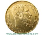 Belgique - 20 Francs Gold coin, King Leopold II, 1874