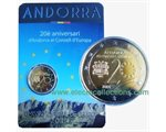 Andorra - 2 Euro, Council of Europe, 2014 (coin card)
