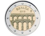 Spain – 2 Euro, Segovia and its Aqueduct, 2016