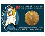 Vatican - 50 Cent, COIN CARD - N. 7 YEAR 2016