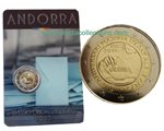 Andorra - 2 Euro, Legal Age at 18 years, 2015 (coin card)
