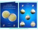 Germany – 2 Euro, Federal state of Saarland, 2009 (A,D,F,G,J)