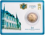 Luxemburg - 2 Euro, BRIDGE CHARLOTTE, 2016 (coin card)