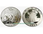 China - 10 X Silver coin BU 1 oz, Panda, 2013