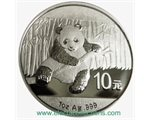 China - 10 X Silver coin BU 1 oz, Panda, 2014