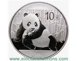 China - 10 X Silver coin BU 1 oz, Panda, 2015