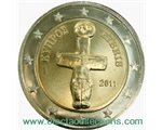 Cyprus - 2 Euro, cross-shaped Idol, 2011