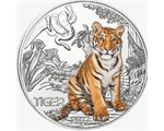 Austria – 3 Euro, Colourful creatures - the Tiger, 2017