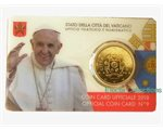Vatican - 50 Cent, COIN CARD - N. 9 YEAR 2018