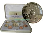 Vatican - Euro coin set Proof 2017 + 20 EURO Ag