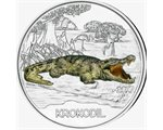 Austria – 3 Euro, Colourful creatures - Crocodile 2017