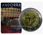 Andorra - 2 Euro, Radio and Television, 2016 (coin card)
