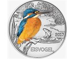 Austria – 3 Euro, Colourful creatures - kingfisher, 2017