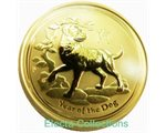 Australia - Gold coin BU 1/4 oz, Year of the Dog, 2018