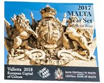 Malta - Official Euro coin set BU 2017 (blister pack)