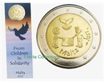 Malte - 2 Euro, PEACE, 2017 (coin card MdP)
