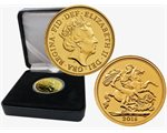 Regno Unito - Elizabeth II, Gold Sovereign BU, 2018 (in gift case)