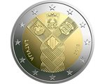Latvia - 2 Euro, 100 years of indepedence, 2018