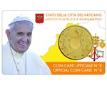 Vaticano - 50 Cent, COIN CARD - N. 8 ANNO 2017