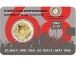 Belgium – 2 Euro, Students Revolt May 68, 2018 NL (coin card)