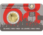Belgio - 2 Euro, Students Revolt May 68, 2018 (coin card)